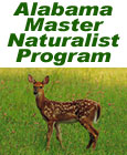 the words 'Alabama Master Naturalist Program' over an image of a baby deer in a field