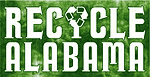 "the words ""Recycle Alabama"" with the recycle logo visually incorporated into the letter ""Y"""